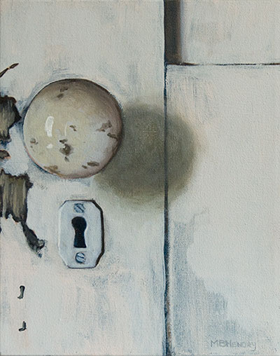 door, abandoned house, painting, knob, michelle hendry