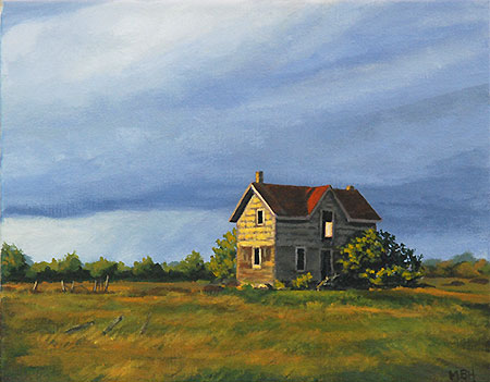 Rob Roy, derelict, ruin, abandoned house, painting, michelle hendry