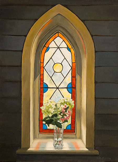 St. Stephens, church, window, painting, hendry