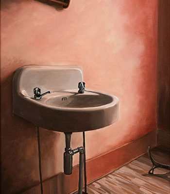 sink, abandoned house, painting, michelle hendry