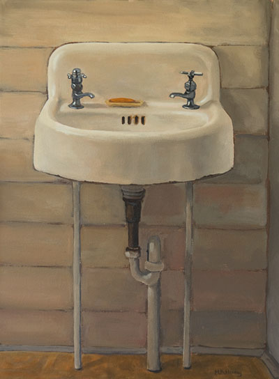 sink, painting, historic hotel, time capsule, sparrow beach lodge