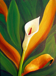 Calla Lily, Mixed media, © 2004 M.B. Hendry