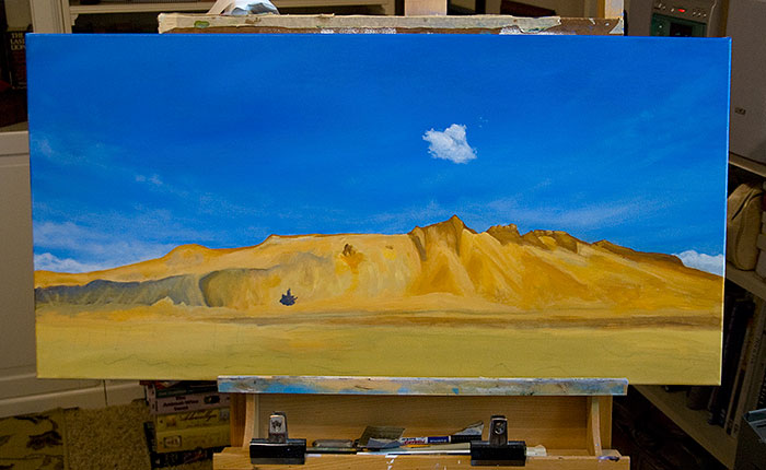 "IN PROGRESS ""On the Turquoise Trail"""