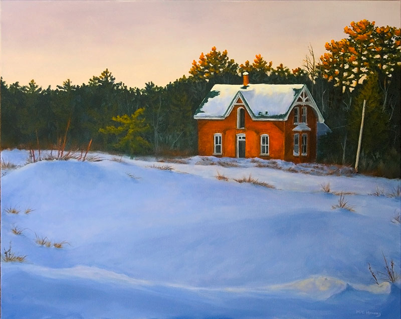 painting, winter, abandoned, michelle hendry