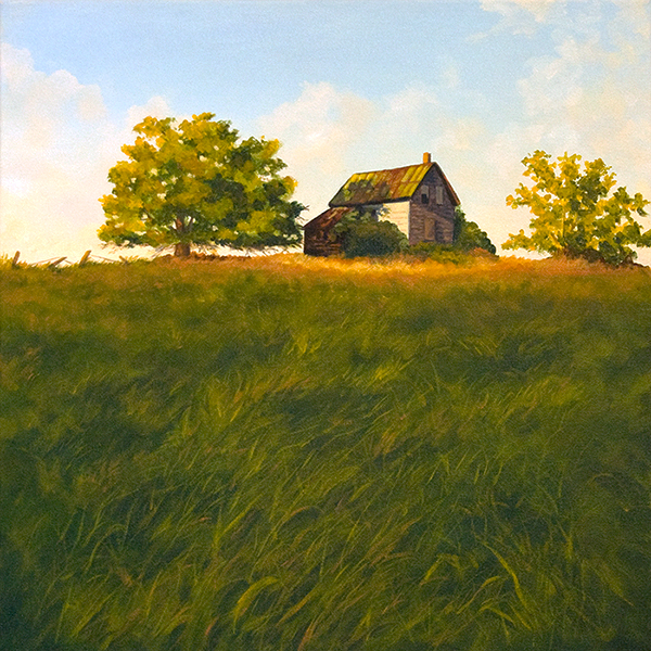 michelle hendry, painting, abandoned house, ruin