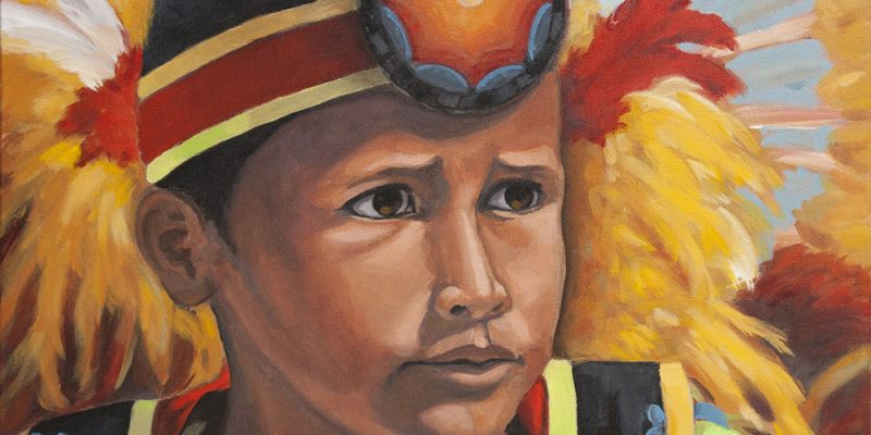 portrait, first nations boy