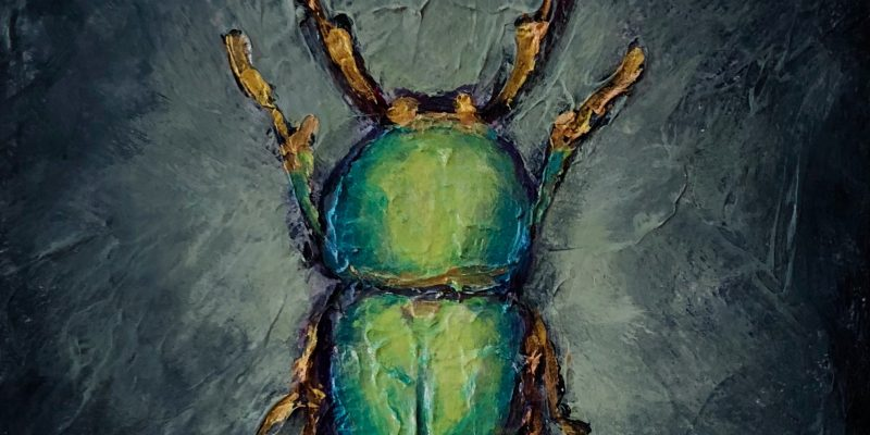 bug painting beetle