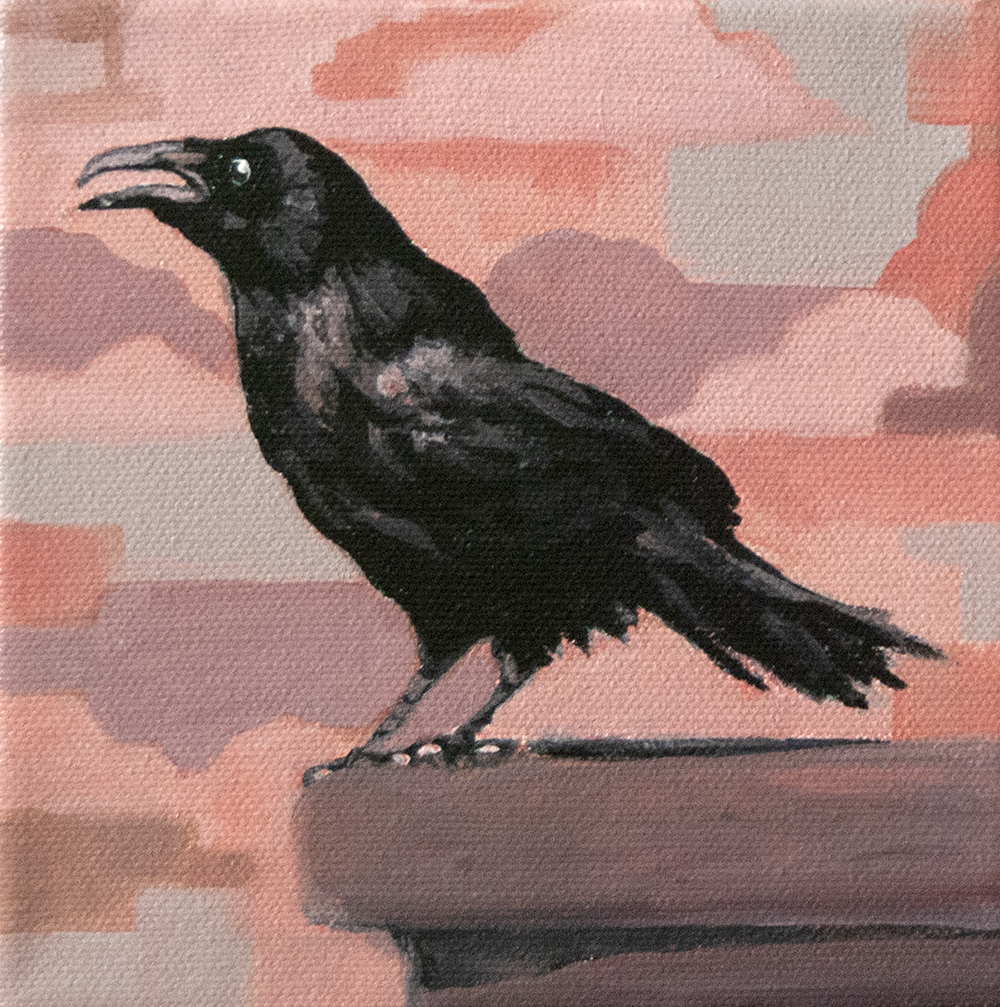 crow painting hendry