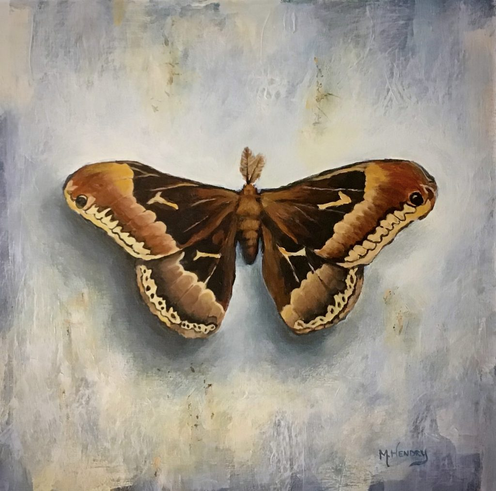 Promethea moth painting, M.Hendry