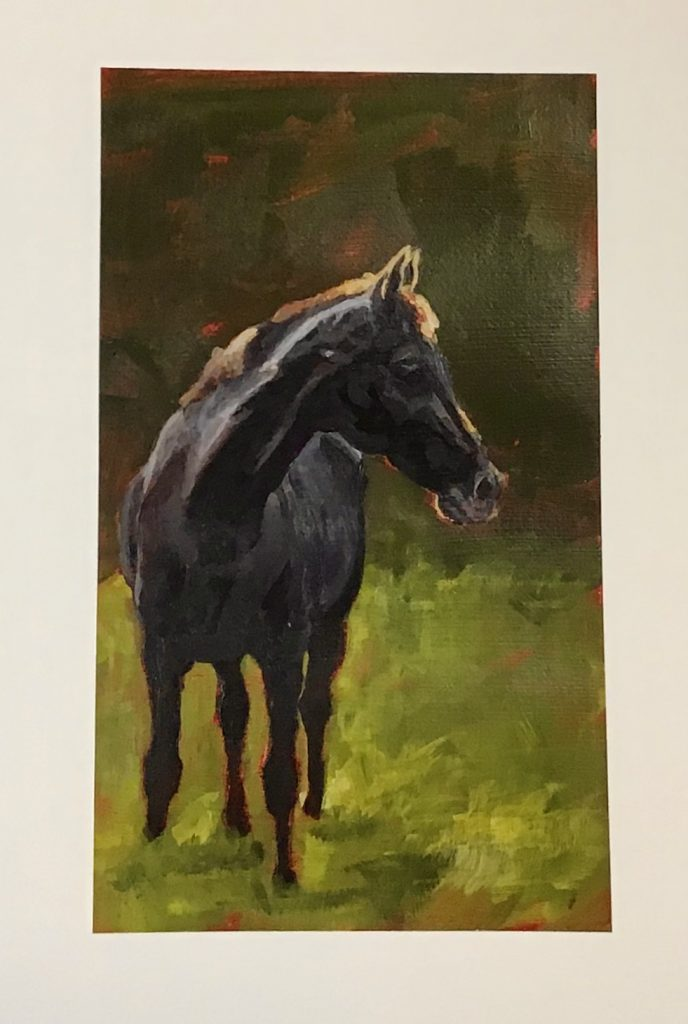 horse painting, M.Hendry